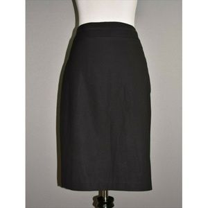 BANANA REPUBLIC Black Wool Knee Length Skirt
